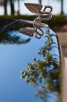 Europe/France/Provence-Alpes-Côte d'Azur/06/Alpes-Maritimes/Cannes: Détail calandre d'une Bentley devant l'Hôtel Carlton sur La Croisette