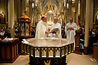 Mar 30, 2013; RCIA Easter Vigil in the Basilica of the Sacred Heart. Photo by Barbara Johnston/ University of Notre Dame