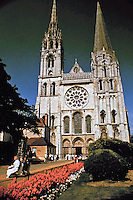 Chartres Cathedral, also known as the Cathedral of Our Lady of Chartres, a Roman Catholic church in Chartres, France. Gothic architecture