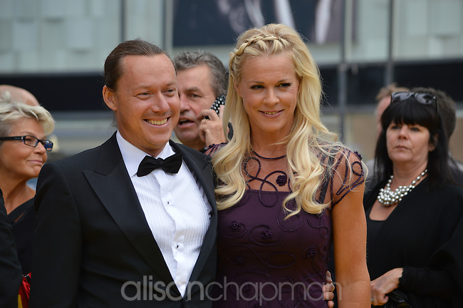 Opera singer Malena Ernman with husband actor Svante Thunberg at the Polar Music Prize 2012. Ernman represented Sweden in the Eurovision Song Contest in 2009.