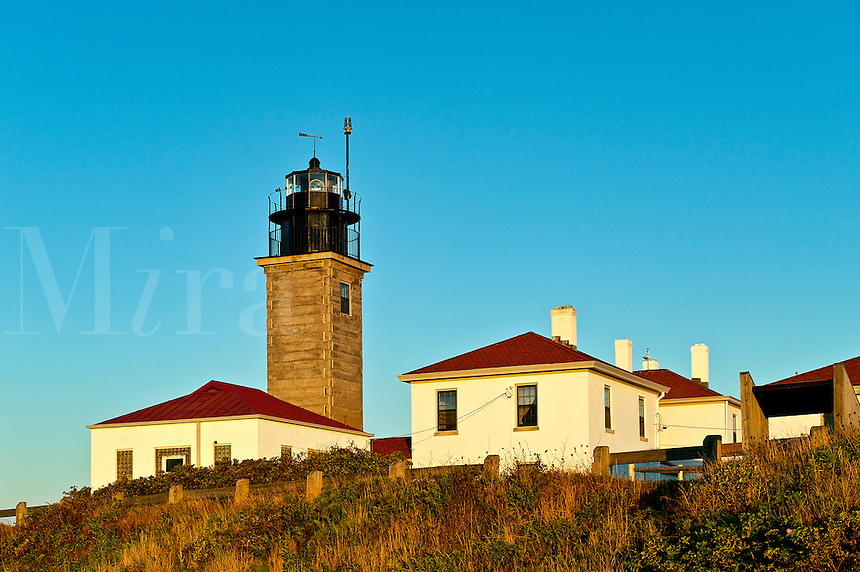 Beavertail lighthouse, Bevertail State Park, Jamestown, RI, Rhode Island, USA. Built 1749