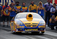 Oct. 31, 2008; Las Vegas, NV, USA: NHRA pro stock driver Rickie Jones launches during qualifying for the Las Vegas Nationals at The Strip in Las Vegas. Mandatory Credit: Mark J. Rebilas-