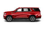 Car Driver side profile view of a 2021 GMC Yukon-Denali - 5 Door SUV Side View