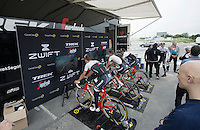 virtual (international) group-ride with Team Trek-Segafredo ahead of the 2016 Tour de France via the ZWIFT training/online game with riders: Markel Irizar (ESP/Trek-Segafredo), Jasper Stuyven (BEL/Trek-Segafredo) & Peter Stetina (USA/Trek-Segafredo)