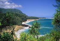 Lumaha'i Beach on the north shore of Kaua'i.