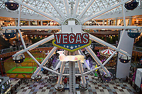 Moscow, Russia, 12/03/2011..A fairground ride inside Vegas, the largest shopping mall in Russia, built by Crocus International, a real estate development company owned and run by Aras Agalarov and his son Emin.