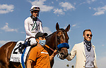 MAY 31, 2021: Chase Chamberlain of Commonwealth Racing leads Country Grammar  and Flavien Prat to the winner circle after winning the Hollywood Gold Cup Stakes at Santa Anita Park in Arcadia, California on May 31, 2021. EversEclipse Sportswire/CSM