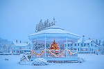 A snowy Christmas in Sullivan, Hancock County, ME, USA