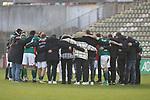 08.11.2020, Dietmar-Scholze-Stadion an der Lohmuehle, Luebeck, GER, 3. Liga, VfB Luebeck vs KFC Uerdingen 05 <br /> <br /> im Bild / picture shows <br /> Schlusskreis des VfB Lübeck/Luebeck nach dem 1:0 Heimsieg<br /> <br /> DFB REGULATIONS PROHIBIT ANY USE OF PHOTOGRAPHS AS IMAGE SEQUENCES AND/OR QUASI-VIDEO.<br /> <br /> Foto © nordphoto / Tauchnitz