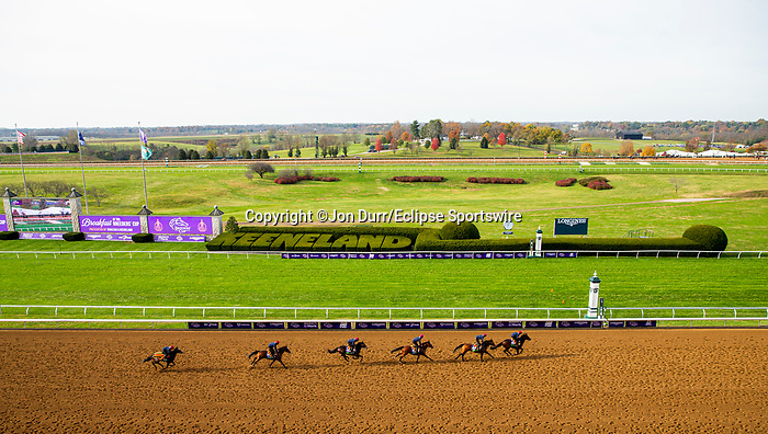 November 5, 2020: The Aidan O'Brien group of trainees exercise at Keeneland Racetrack in Lexington, Kentucky on November 5, 2020. Jon Durr/Eclipse Sportswire/Breeders Cup