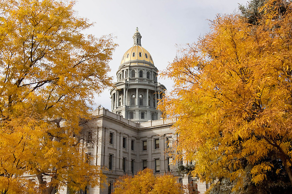 Colorado State Capitol with Greek Corinthian architecture in autumn, Denver; Colorado. .  John offers private photo tours in Denver, Boulder and throughout Colorado. Year-round Colorado photo tours.