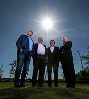 May 7, 2018. La Jolla, CA. USA. |Left to right,  J.Craig Venter, Peter Farrell, Ivor Royston, and Jay Flatley, . | Photo: Jamie Scott Lytle. Copyright.