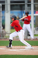 GCL Red Sox first baseman Raiwinson Lameda (17) at bat during the second game of a doubleheader against the GCL Rays on August 9, 2016 at JetBlue Park in Fort Myers, Florida.  GCL Rays defeated GCL Red Sox 9-1.  (Mike Janes/Four Seam Images)