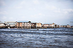 Along the coast of Benin between Cotonou and Ganvie, fishermen live on houses on stilts in the ocean.