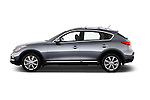Car Driver side profile view of a 2017 Infiniti QX50 - 5 Door Suv Side View