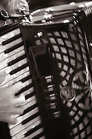 "Piano accordian, ""Edge of Chaos Orchestra"" recording at the Blue Coconut Club, Pulborough, West Sussex."