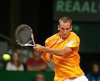 18-9-09, Netherlands,  Maastricht, Tennis, Daviscup Netherlands-France, . Thiemo de Bakker.