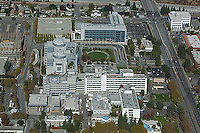 aerial photograph Santa Clara Valley Medical Center hospital San Jose, Santa Clara county California