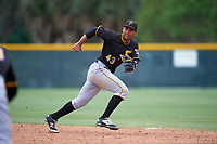 Pittsburgh Pirates Trae Arbet (32) during a minor league Spring Training game against the Toronto Blue Jays on March 24, 2016 at Pirate City in Bradenton, Florida.  (Mike Janes/Four Seam Images)