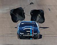 Feb 25, 2018; Chandler, AZ, USA; NHRA pro stock driver Tanner Gray during the Arizona Nationals at Wild Horse Pass Motorsports Park. Mandatory Credit: Mark J. Rebilas-USA TODAY Sports