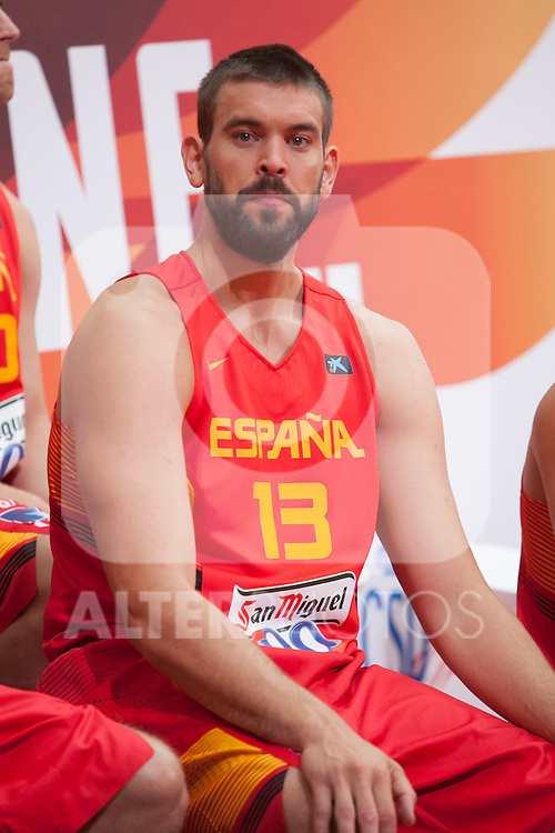 Marc Gasol during the official presentation of Spain´s basketball team for the 2014 Spain Basketball Championship in Madrid, Spain. July 24, 2014. (ALTERPHOTOS/Victor Blanco)