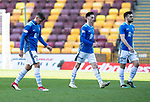 Motherwell v St Johnstone….30.03.19   Fir Park   SPFL<br />Ross Callachan, Scott Tanser and Tony Watt leave the pitch at full tyime<br />Picture by Graeme Hart. <br />Copyright Perthshire Picture Agency<br />Tel: 01738 623350  Mobile: 07990 594431