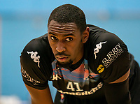 Emondre Rickman of Surrey Scorchers during the BBL Championship match between Surrey Scorchers and Newcastle Eagles at Surrey Sports Park, Guildford, England on 20 March 2021. Photo by Liam McAvoy.