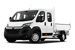 Stock pictures of low aggressive front three quarter view of 2019 Citroen Jumper - 4 Door Chassis Cab Low Aggressive