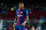 Jose Paulo Bezerra Maciel Junior, Paulinho, of FC Barcelona reacts during the UEFA Champions League 2017-18 match between FC Barcelona and Olympiacos FC at Camp Nou on 18 October 2017 in Barcelona, Spain. Photo by Vicens Gimenez / Power Sport Images