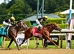 July 31, 2021: Lexitonian #1, ridden by jockey Jose Lezcano battles back against #9 Special Reserve and jockey Joel Rosario to win the Grade 1 Alfred G. Vanderbilt Handicap at Saratoga Race Course in Saratoga Springs, N.Y. on July 31, 2021. Dan Heary/Eclipse Sportswire/CSM