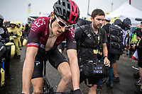 Geraint Thomas (GBR/Ineos)  after finishing on top of the Foix Prat d'Albis. <br /> <br /> Stage 15: Limoux to Foix Prat d'Albis (185km)<br /> 106th Tour de France 2019 (2.UWT)<br /> <br /> ©kramon