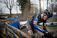 Toon Aerts (BEL/Baloise Trek Lions)<br /> <br /> 2021 Flandriencross Hamme (BEL)<br /> Men's Race<br /> <br /> ©kramon