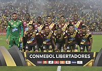 IBAGUE - COLOMBIA, 24-04-2019: Jugadores del Tolima posan para una foto previo al partido por la ronda 4, grupo G, de la Copa CONMEBOL Libertadores 2019 entre Deportes Tolima de Colombia y Boca Juniors de Argentina jugado en el estadio Manuel Murillo Toro de la ciudad de Ibagué. / Players of Tolima pose to a photo prior As part of round 4, group G, of Copa CONMEBOL Libertadores 2019 between Deportes Tolima of Colombia and Boca Juniors of Argentina played at Manuel Murillo Toro stadium in Ibague city. Photo: VizzorImage / Alejandro Rosales / Cont