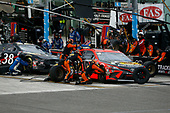 HOMESTEAD, FLORIDA - JUNE 14: Martin Truex Jr., driver of the #19 Toyota, pits during the NASCAR Cup Series Dixie Vodka 400 at Homestead-Miami Speedway on June 14, 2020 in Homestead, Florida. (Photo by Michael Reaves/Getty Images)