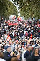 MANIFESTATION DES FONCTIONNAIRES A PARIS, FRANCE, LE 10/10/2017.