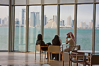Doha, Qatar.  Watching Doha Grow, through the Windows of the Museum of Islamic Art.