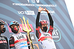 Tadej Pogacar (SLO) UAE Team Emirates at sign on before the start of Stage 3 of Tirreno-Adriatico Eolo 2021, running 219km from Monticiano to Gualdo Tadino, Italy. 12th March 2021. <br /> Photo: LaPresse/Gian Mattia D'Alberto   Cyclefile<br /> <br /> All photos usage must carry mandatory copyright credit (© Cyclefile   LaPresse/Gian Mattia D'Alberto)