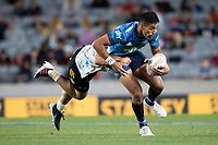 3rd April 2021; Eden Park, Auckland, New Zealand;  Blues centre Rieko Ioane during the Super Rugby Aotearoa rugby match between the Blues and the Hurricanes held at Eden Park, Auckland, New Zealand.