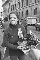 - women's demonstration of the UDI (Union of Italian Women) (Milan, 1976)<br />