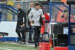 28.09.2020, Benteler-Arena, Paderborn, GER, 2. FBL SC Paderborn 07 vs. Hamburger SV<br />  <br />im Bild<br />Co-Trainer Merlin Polzin (Hamburger SV)<br /><br />DFL regulations prohibit any use of photographs as image sequences and/or quasi-video. <br /><br />Foto © nordphoto / Paetzel