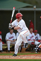 Ball State Cardinals Zach Plesac (11) during a game against the Maine Black Bears on March 3, 2015 at North Charlotte Regional Park in Port Charlotte, Florida.  Ball State defeated Maine 8-7.  (Mike Janes/Four Seam Images)