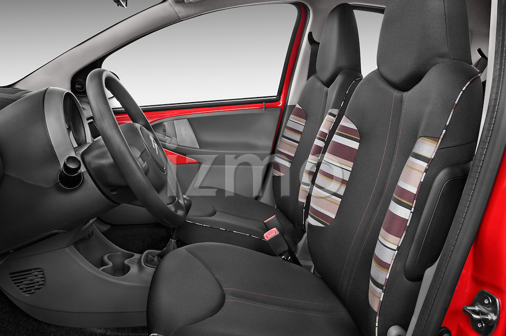 Front seat view of a 2009 - 2012 Citroen C1 Airplay 5-Door Micro Car Hatchback