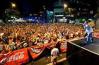 Crowds cheer at Food Lion Speed Street in uptown Charlotte, NC.