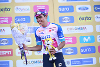 TUNJA - COLOMBIA, 13-02-2020: Sergio Higuita (COL), EF EDUCATION FIRST, lidér de los jóvenes después de la tercera etapa del Tour Colombia 2.1 2020 con un recorrido de 177,7 km que se corrió entre Paipa y Sogamoso, Boyacá. / Sergio Higuita (COL), EF EDUCATION FIRST, youth leader after the third stage of 177,7 km as part of Tour Colombia 2.1 2020 that ran between Paipa and Sogamoso, Boyaca.  Photo: VizzorImage / Darlin Bejarano / Cont