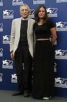 Roberto Herlitzka, left, and Elena Bellocchio attend a photocall for the movie 'Blood Of My Blood' during the 72nd Venice Film Festival at the Palazzo Del Cinema in Venice, Italy, September 8, 2015.<br /> UPDATE IMAGES PRESS/Stephen Richie