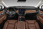 Stock photo of straight dashboard view of 2018 Volvo S90 Inscription 4 Door Sedan Dashboard