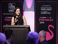 Nadine Renaud-Tinker<br /> au Gala Phenicia 2018<br /> , le 31 mai 2018,a la Caisse de Depot et PLacements du Quebec.<br /> <br /> PHOTO : Agence Quebec Presse