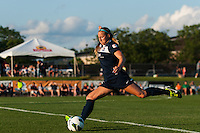 Sky Blue FC defender Kendall Johnson (5). The Western New York Flash defeated Sky Blue FC 3-0 during a National Women's Soccer League (NWSL) match at Yurcak Field in Piscataway, NJ, on June 8, 2013.