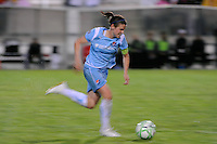 Heather O'Reilly (9) of Sky Blue FC. Sky Blue FC and the Los Angeles Sol played to a 0-0 tie during a Women's Professional Soccer match at Yurcak Field in Piscataway, NJ, on June 13, 2009.