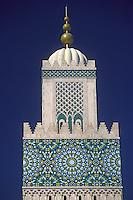 Casablanca, Morocco - Minaret of the Mosque of Hassan II.